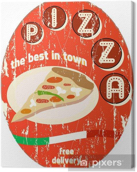 Obraz na płótnie Rocznika znak pizzy - Posiłki