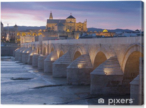 Obraz na płótnie Roman most o zachodzie słońca w Cordoba, Hiszpania - Europa