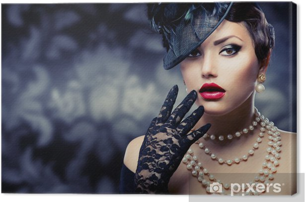 Obraz na płótnie Romantic Style Beauty.Retro - Kobiety