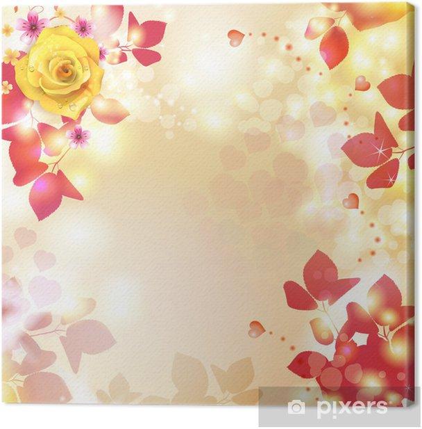 Obraz na płótnie Romantyczne tło na Walentynki z serca - Święta międzynarodowe