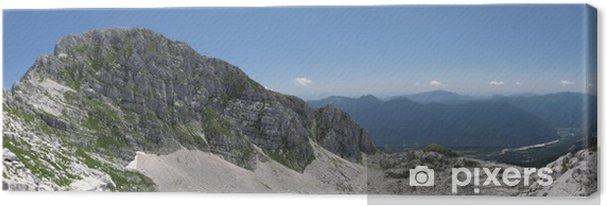 Obraz na płótnie Romb w Alpy Julijskie w pobliżu włoskiej granicy słoweńskiej - Europa