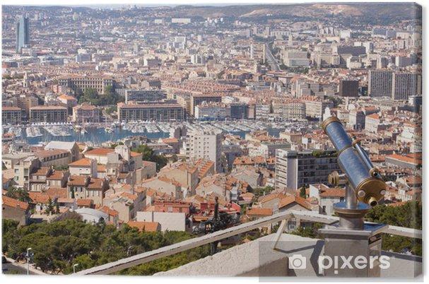 Obraz na płótnie Rooftop view Marsylii - Wakacje