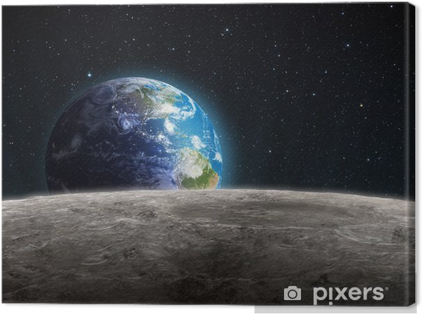 Obraz na płótnie Rośnie widziane z Ziemi Księżyc - Wszechświat
