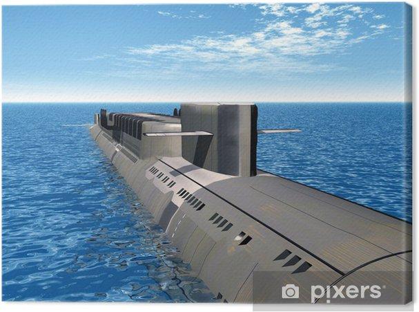 Obraz na płótnie Rosyjski atomowy okręt podwodny - Transport wodny