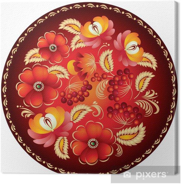 Obraz na płótnie Rosyjski ornament rękodzieło 2 - Kwiaty