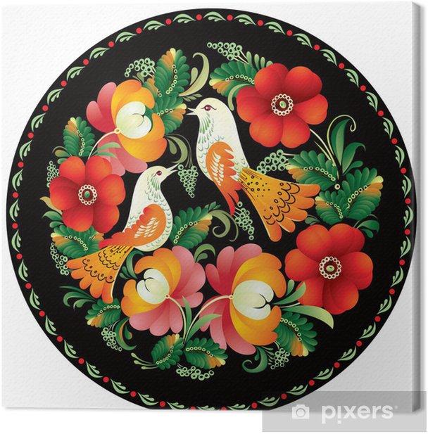 Obraz na płótnie Rosyjski ornament rękodzieło - Ptaki