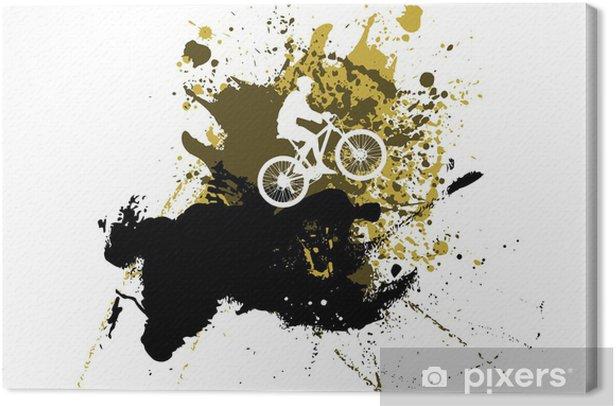 Obraz na płótnie Rower górski abstrakcyjne tło - Sporty indywidualne