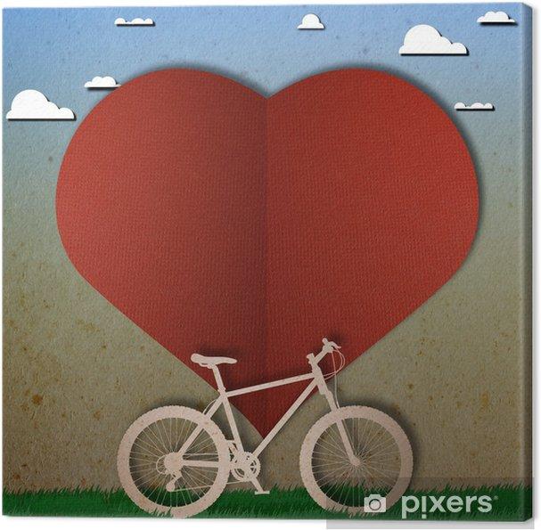 Obraz na płótnie Rower, miłość, serce papper cięcia - Szczęście