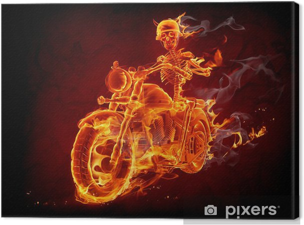 Obraz na płótnie Rowerzysta ognia - Transport drogowy