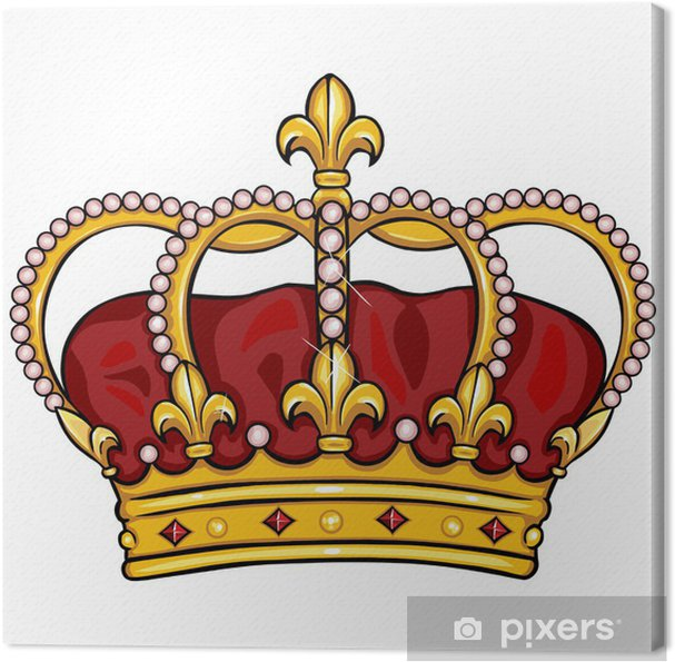 Obraz na płótnie Royal Crown kreskówka wektor - Koncepcje biznesowe