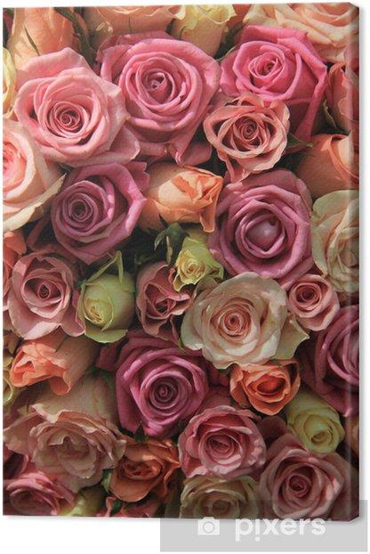 Obraz na płótnie Róż w różnych odcieniach różu, aranżacji ślubnych - Świętowanie