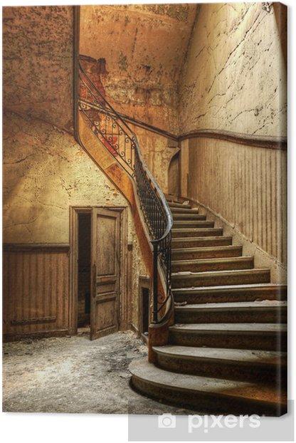 Obraz na płótnie Rozkładających się schody w opuszczonym centralnego biura - Tematy