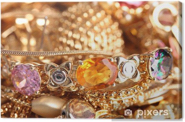 Obraz na płótnie Różne zbliżenie złota biżuteria -