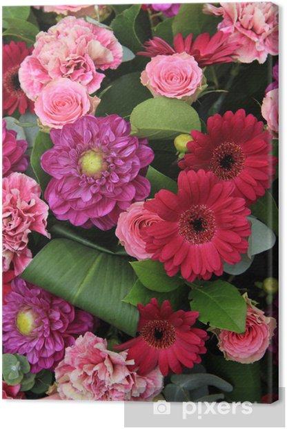 Obraz na płótnie Różowe i fioletowe dekoracje ślubne - Świętowanie