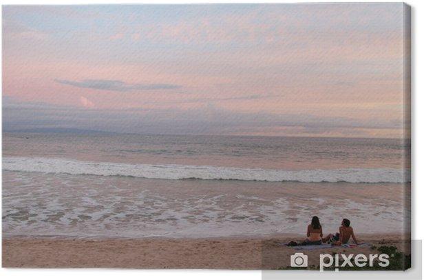 Obraz na płótnie Różowe niebo - Woda