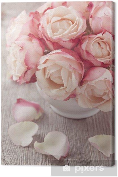 Obraz na płótnie Różowe róże - Tematy