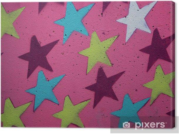 Obraz na płótnie Różowe Stars - Tła