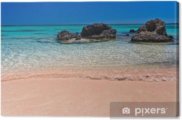 Obraz na płótnie Różowy piasek na plaży Elafonisi, Krecie - Europa