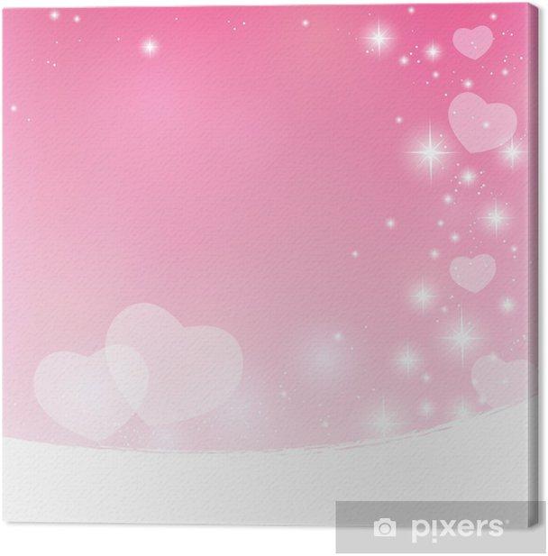 Obraz na płótnie Różowy Valentine gwiaździste wektorowe - Święta międzynarodowe