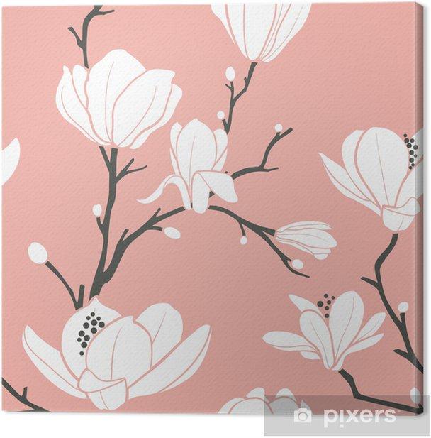 Obraz na płótnie Różowy wzór magnolii - Tematy