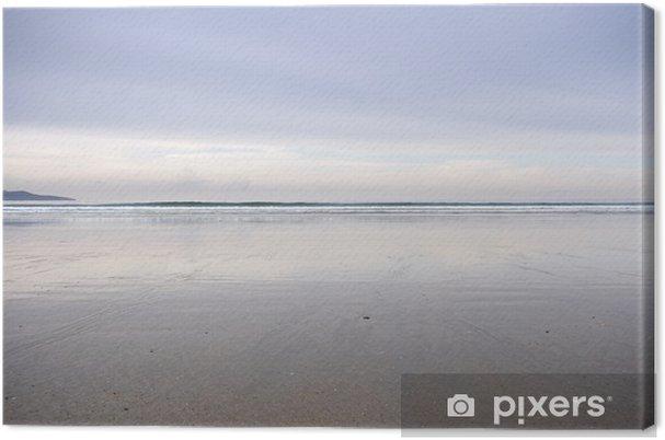 Obraz na płótnie Rozpoczęła plaża, Pontevedra, Galicia, Hiszpania - Wakacje