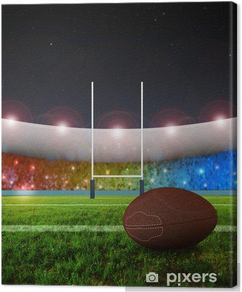 Obraz na płótnie Rugby penalty kick - Night - Rugby
