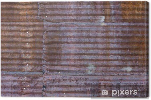 Obraz na płótnie Rusted Steel panel falistej - Tła