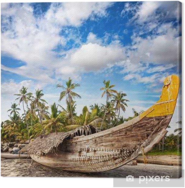 Obraz na płótnie Rybak na plaży - Azja