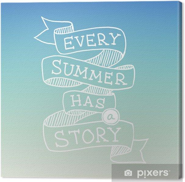 Obraz na płótnie Rysowane ręcznie cytat lato, ilustracji wektorowych - Tematy