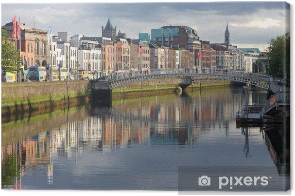 Obraz na płótnie Rzeki Liffey, wieczorem światło - Europa