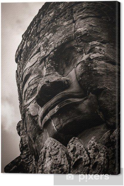 Obraz na płótnie Rzeźba Bayon Temple w Angkor w Kambodży - Azja