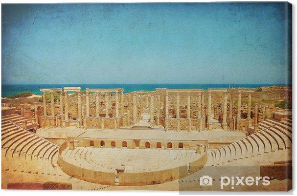 Obraz na płótnie Rzymski teatr w Leptis Magna - Libia - Zabytki