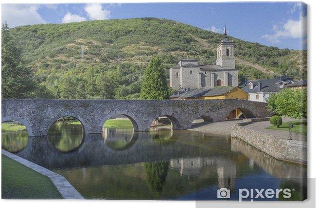 Obraz na płótnie Rzymskie widoki most w Molinaseca, Leon, Hiszpania - Zabytki