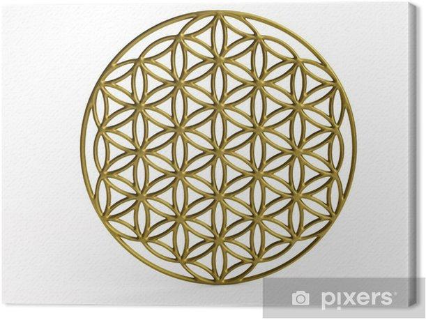 Obraz na płótnie Sakralna Symbol Kwiat życia w 3D - Naklejki na ścianę