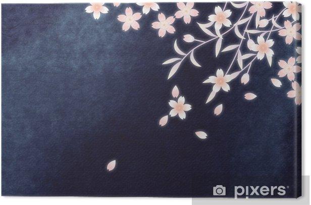 Obraz na płótnie Sakura Noc - Kwiaty