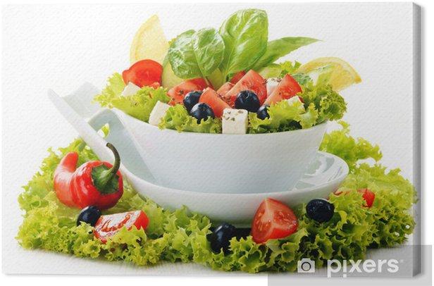 Obraz na płótnie Salaterki warzyw samodzielnie na białym tle - Warzywa
