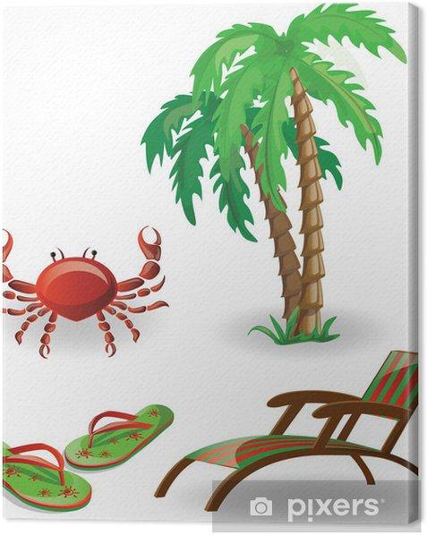 Obraz na płótnie Salon Travel, japonki, kraby, palmy - Wakacje