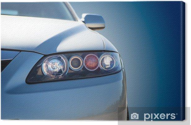 Obraz na płótnie Samochód niebieski nowoczesny zbliżenie - Tematy