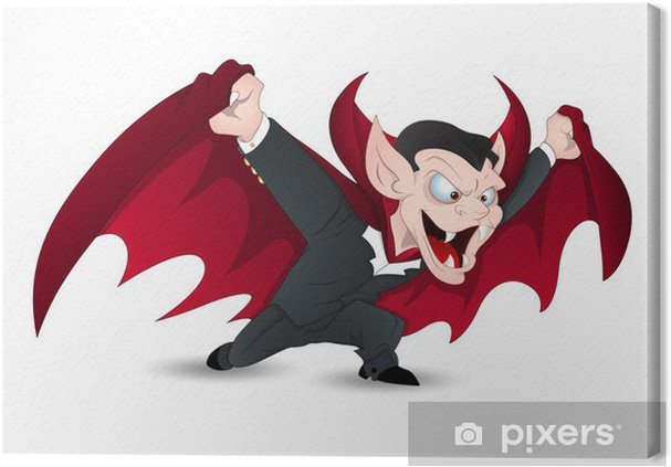 Obraz na płótnie Samodzielnie na białym Funny Vector Vampire na Halloween - Święta międzynarodowe