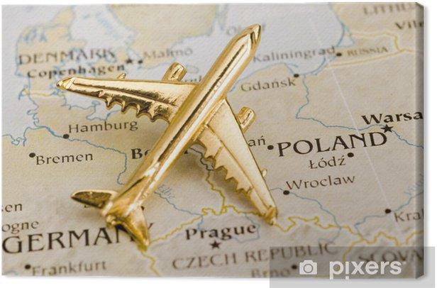Obraz na płótnie Samolot nad Polską - Miasta europejskie