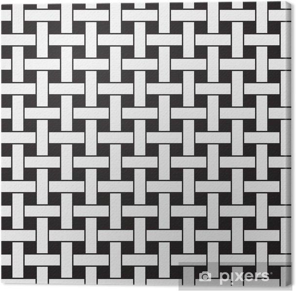 Obraz na płótnie Samolot splot, czarno-białe abstrakcyjne geometryczne wektor bez szwu - Tła