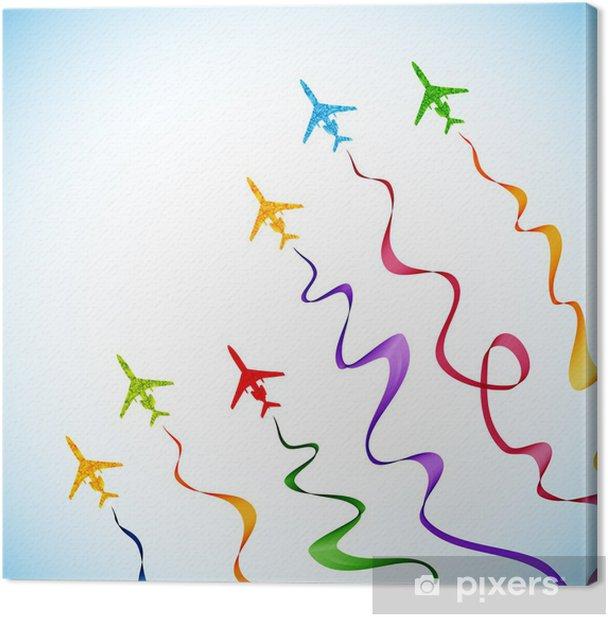 Obraz na płótnie Samolot, wektor streszczenie tle - Transport powietrzny