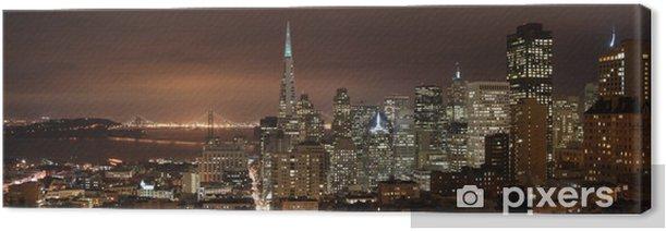 Obraz na płótnie San Francisco - noc panorama - Ameryka