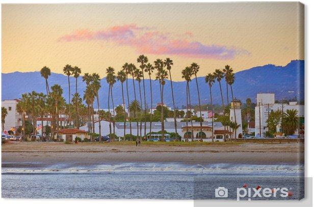 Obraz na płótnie Santa Barbara z molo - Ameryka