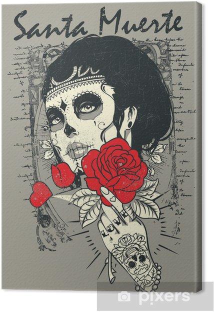 Obraz na płótnie Santa Muerte Rose - Tematy
