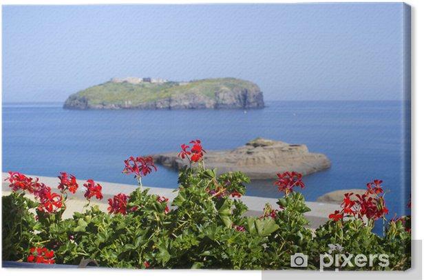 Obraz na płótnie Santo Stefano widok z tarasu od Ventotene - Wakacje
