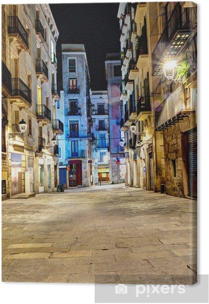 Obraz na płótnie Scena nocy w dzielnicy gotyckiej, Barcelona, Hiszpania - Tematy