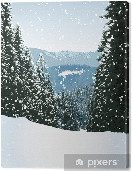 Obraz na płótnie Scena zima - ilustracji - Tematy