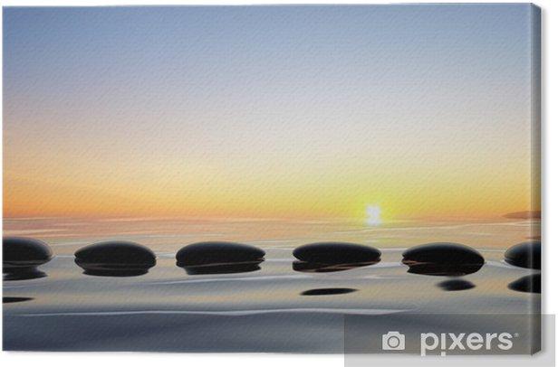 Obraz na płótnie Scenic widok jeziora z zen kamienie w wodzie - Niebo