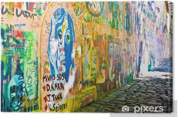 Obraz na płótnie Ściana Johna Lennona (Praga) - Vista boczny (Toma 2) - Miasta europejskie